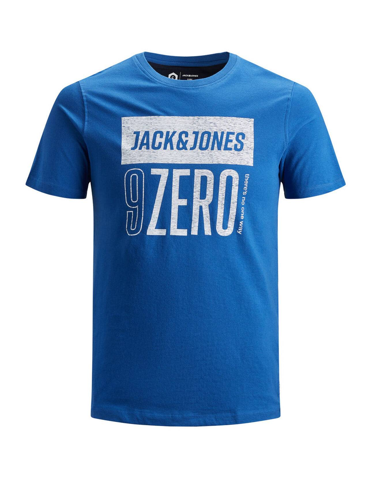 JACK & JONES Print T-shirt Men Blue ClassicBlue
