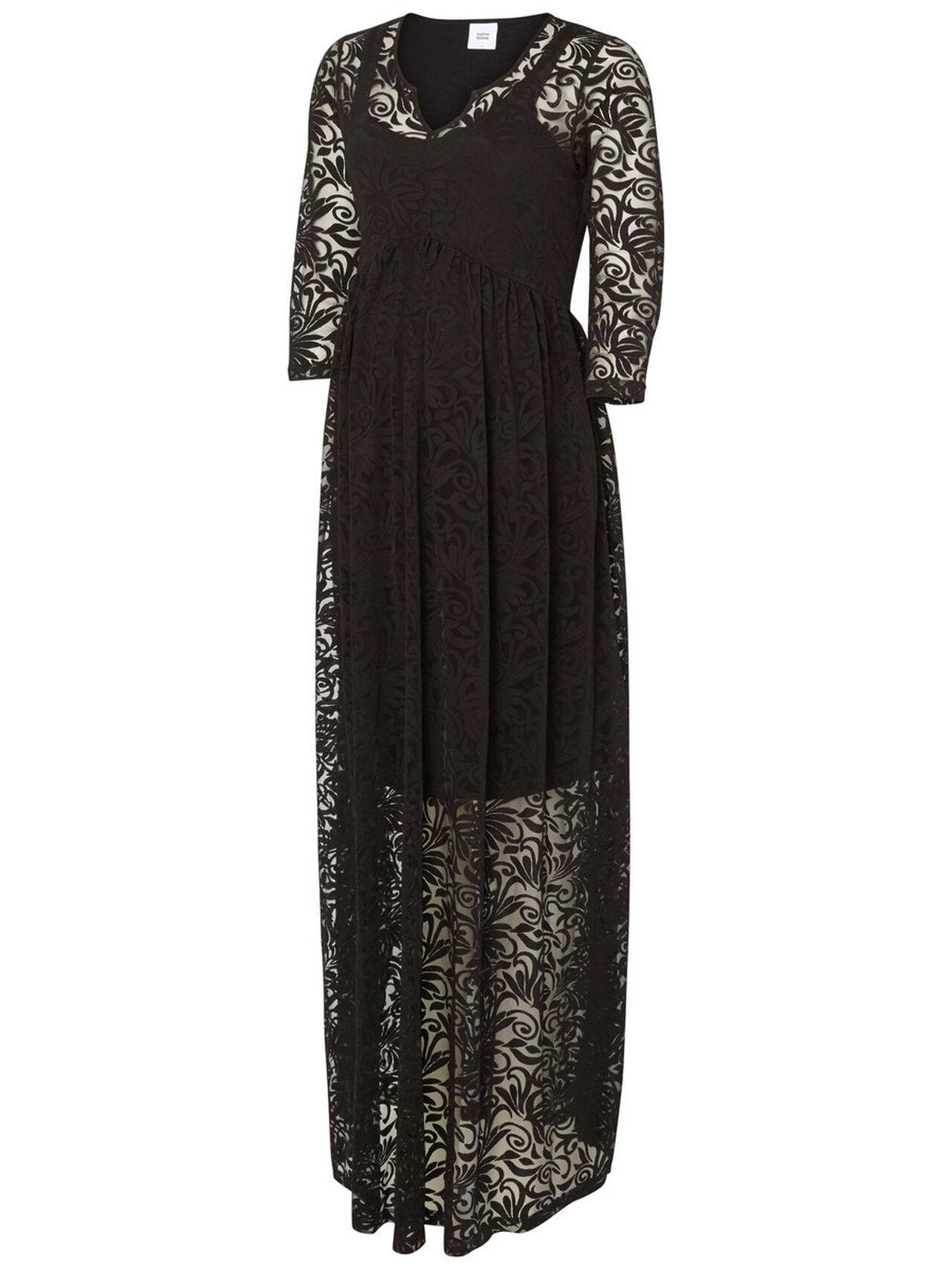 Mama.licious Woven Maternity Dress, Long Black