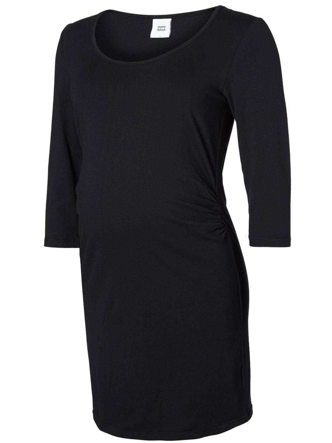 Mama.licious Jersey Maternity Dress Black