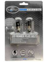 Oxford Halo LED Number Plate Bolts Musta