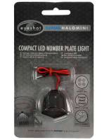 Oxford Halo Compact Light LED Rekisterikilpi Musta