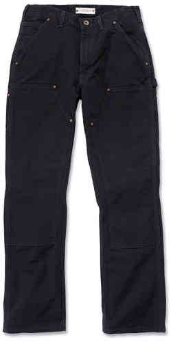 Carhartt Washed Duck Double-Front Work Dungaree Housut Musta