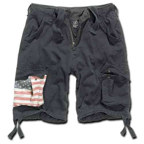 Brandit Urban Legend Stars & Stripes Shortsit Musta