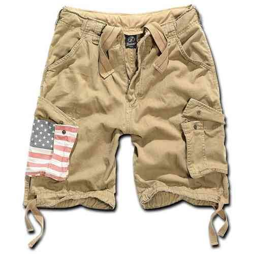 Brandit Urban Legend Stars & Stripes Shortsit Beige