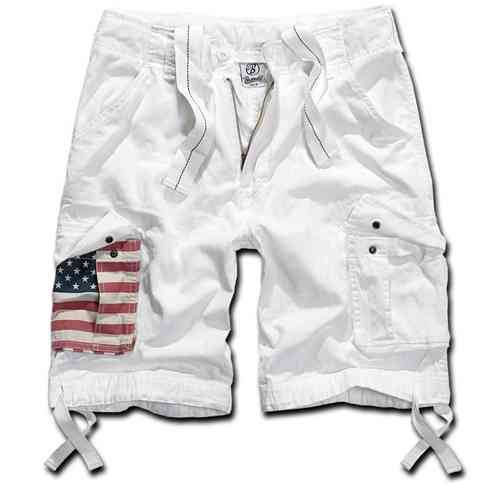 Brandit Urban Legend Stars & Stripes Shortsit Valkoinen