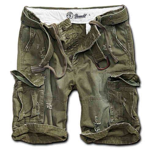 Brandit Shell Valley Heavy Vintage Shortsit Oliivi