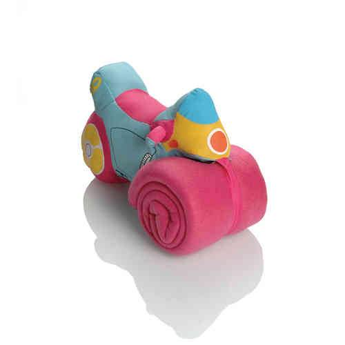 Booster Plush Motorbike with Soft Fleece Towel Sininen