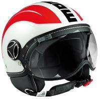 MOMO Avio White Quarz Glossy Red Logo Black