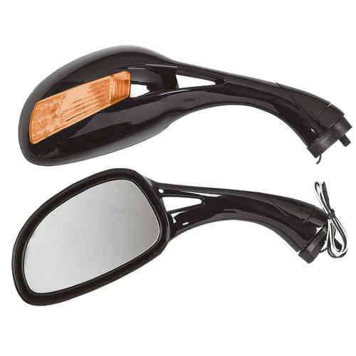 Booster Blaze Rear View Mirror Set with LED Winker Oranssi