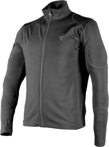 Dainese Fleece Man Full Zip E1 Musta/harmaa