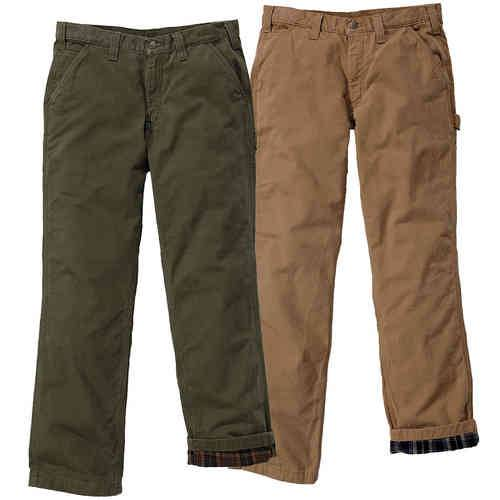 Carhartt Washed Twill Dungaree Flannell Lined Housut