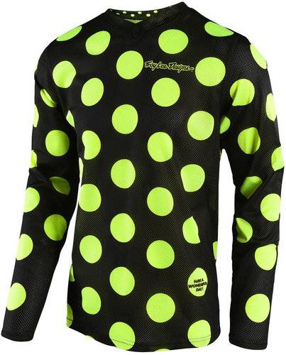 Troy Lee Designs GP Air Polka Dot Jersey Musta/keltainen