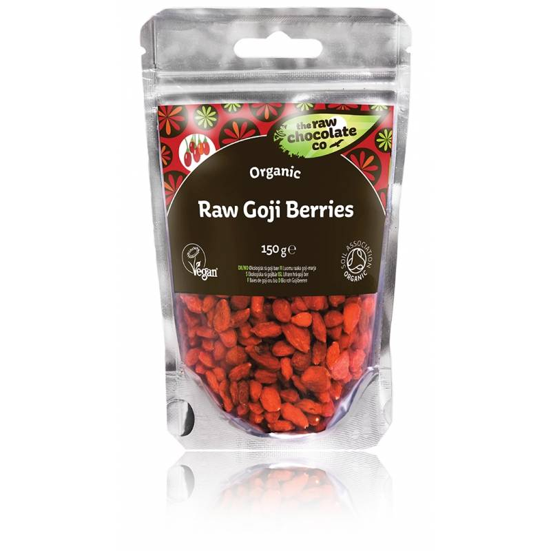 The Raw Chocolate Co Raw Goji Berries Organic 150 g Snack