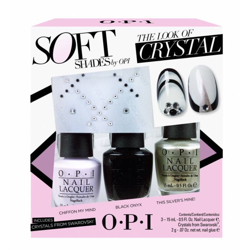 OPI Soft Shades Nail Polish Trio With Swarovski Crystals 3 x 15 ml + 25 pcs Kynsilakka