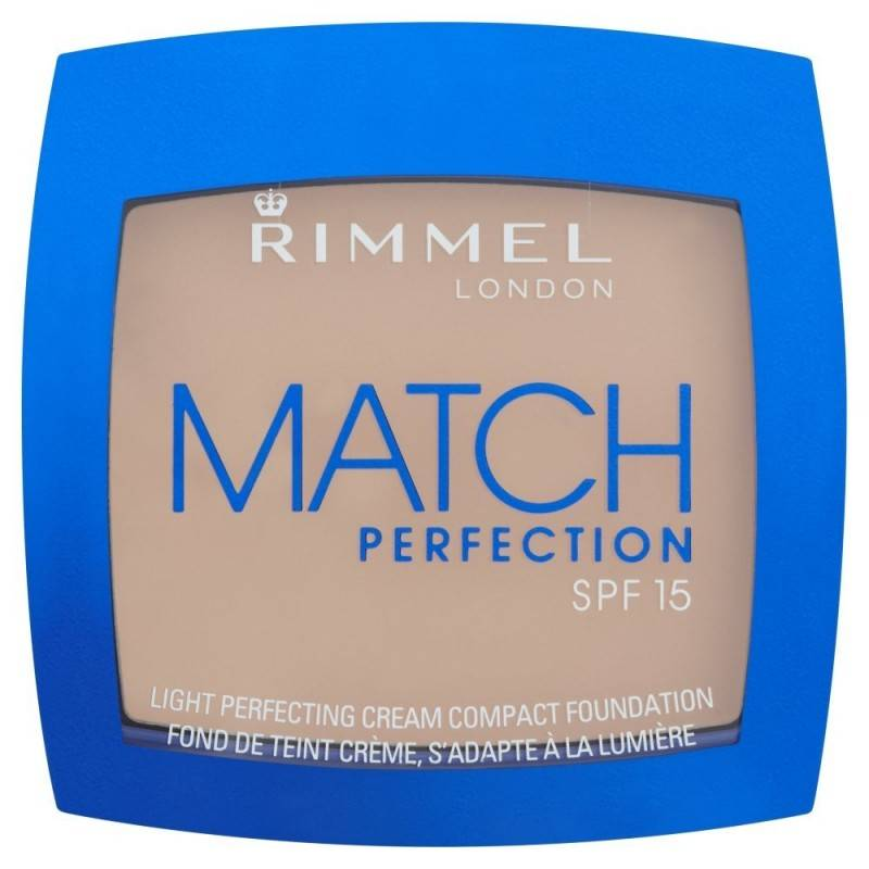 Rimmel Match Perfection Cream Compact Foundation 010 Light Porcelain 7 g Meikkivoide