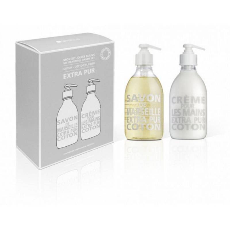 Compagnie De Provence Extra Pur My Beautiful Hand Cotton Flower Set  300 ml + 300 ml  Käsisaippua