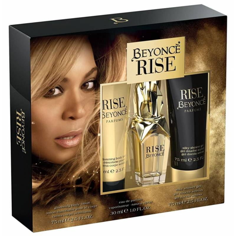 Beyonce Rise EDP & Bodylotion & Shower Gel 30 ml + 2 x 75 ml Lahjapakkaus