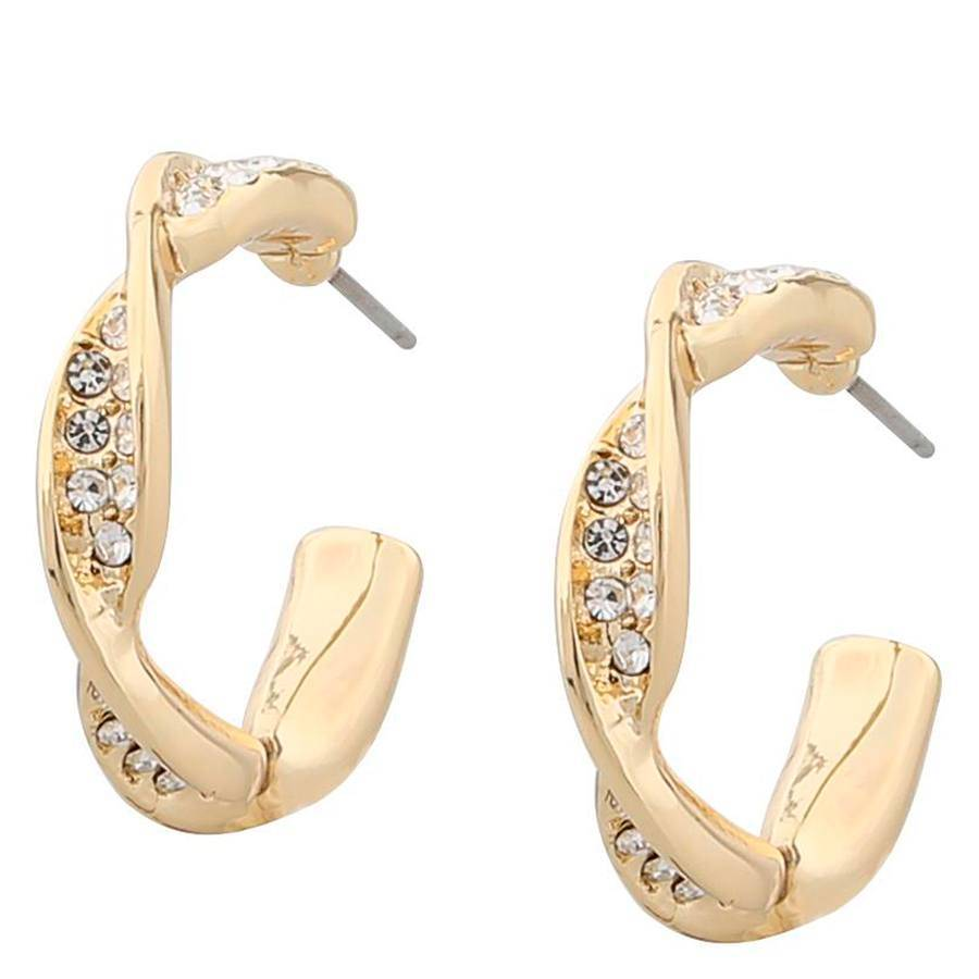 Snö Of Sweden Leonie Small Oval Earring – Gold/Clear