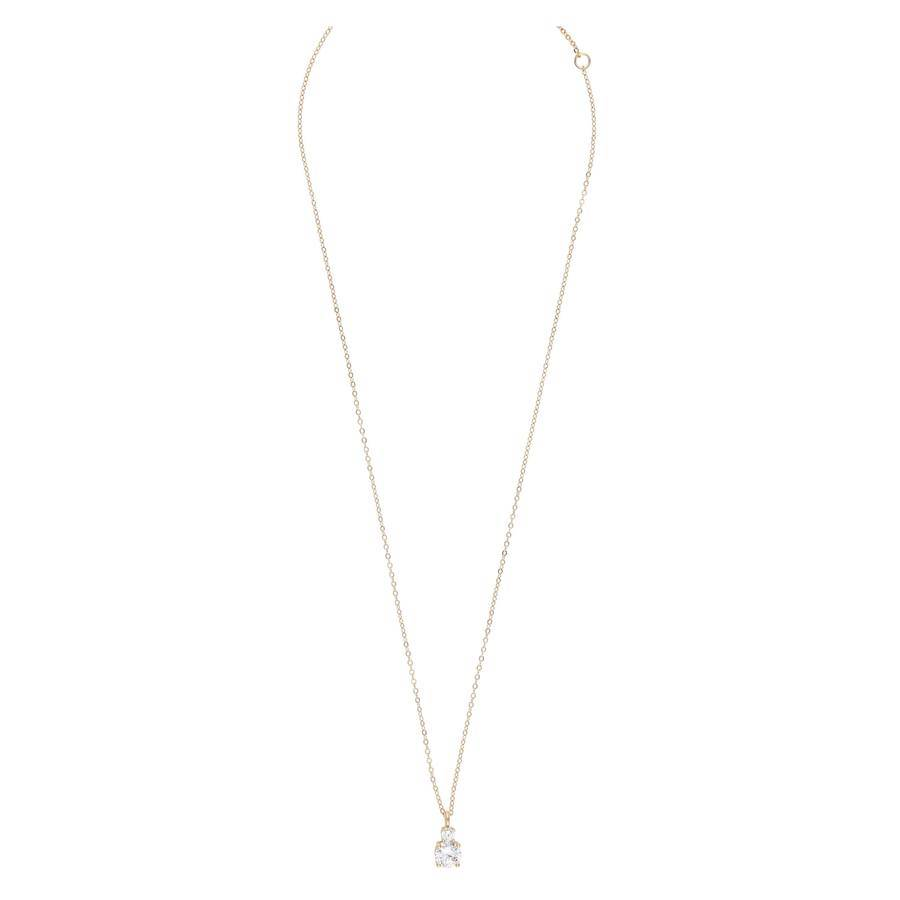Snö Of Sweden Duo Pendant Necklace 42 cm - Gold/Clear