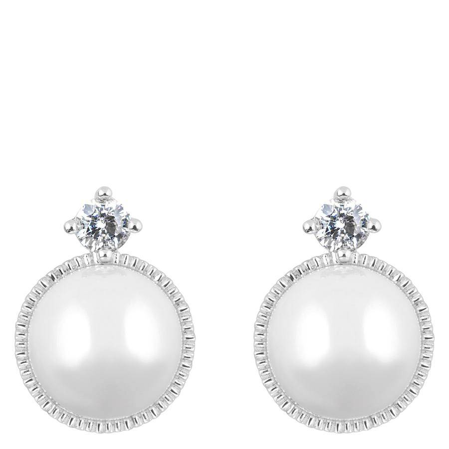Snö of Sweden Gracie Small Earring – Silver/White
