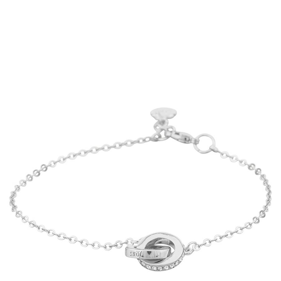 Snö Of Sweden Connected Chain Bracelet – Silver/Clear