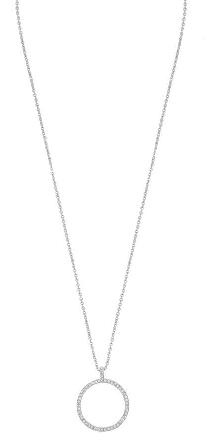Snö Of Sweden Lily Pendant Necklace - Silver/Clear