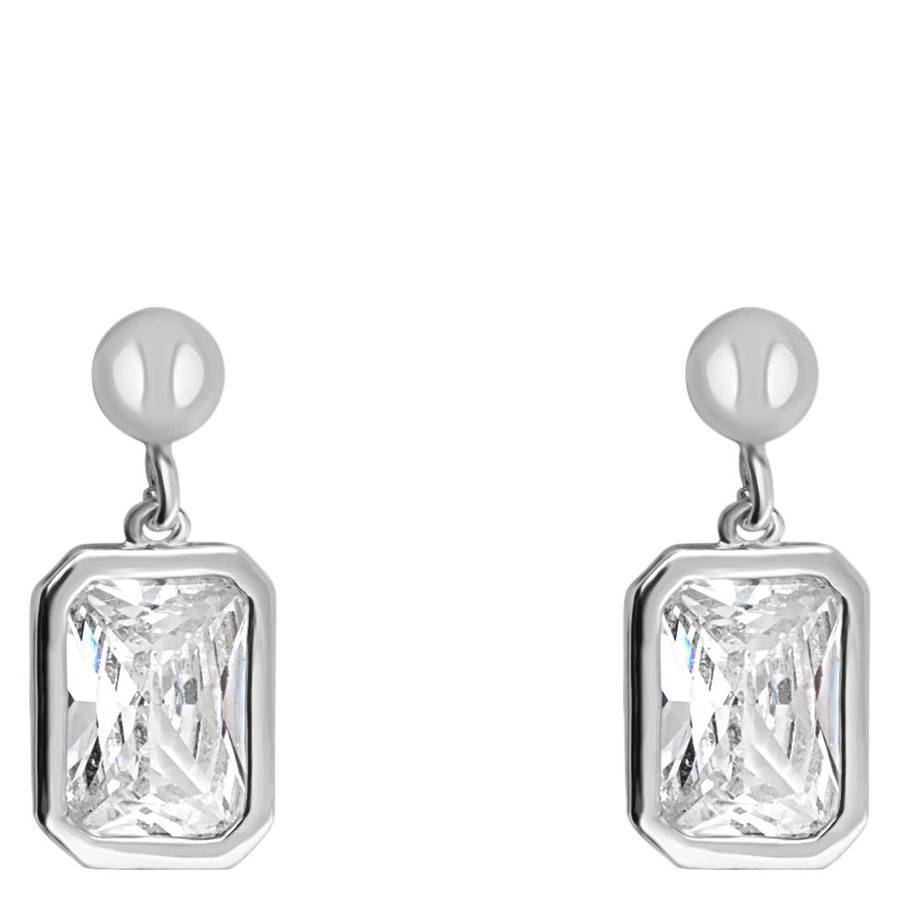 Snö Of Sweden Twice Small Earring – Silver/Clear