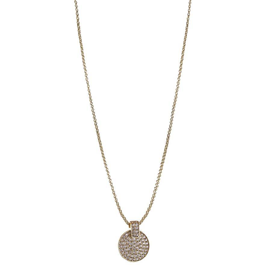Snö Of Sweden Carrie Pendant Necklace – Gold/Clear