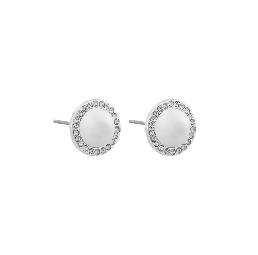 Snö Of Sweden Daria Small Pearl Earring - Silver/White