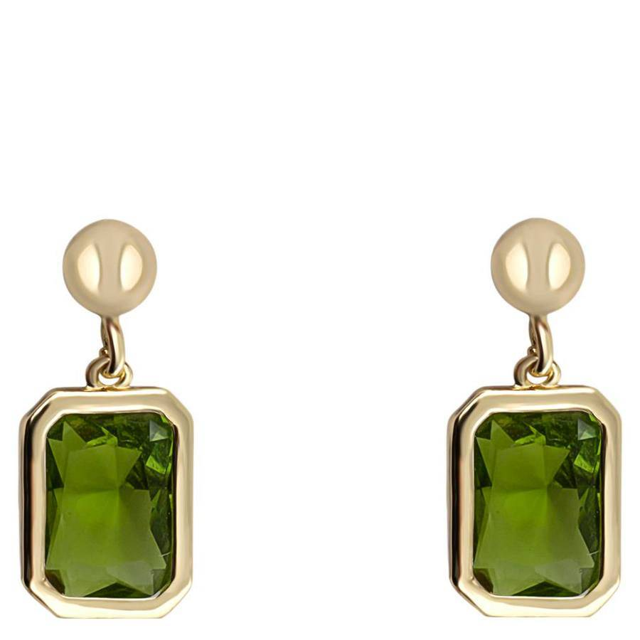 Snö Of Sweden Twice Small Earring 16 mm – Gold/Olive