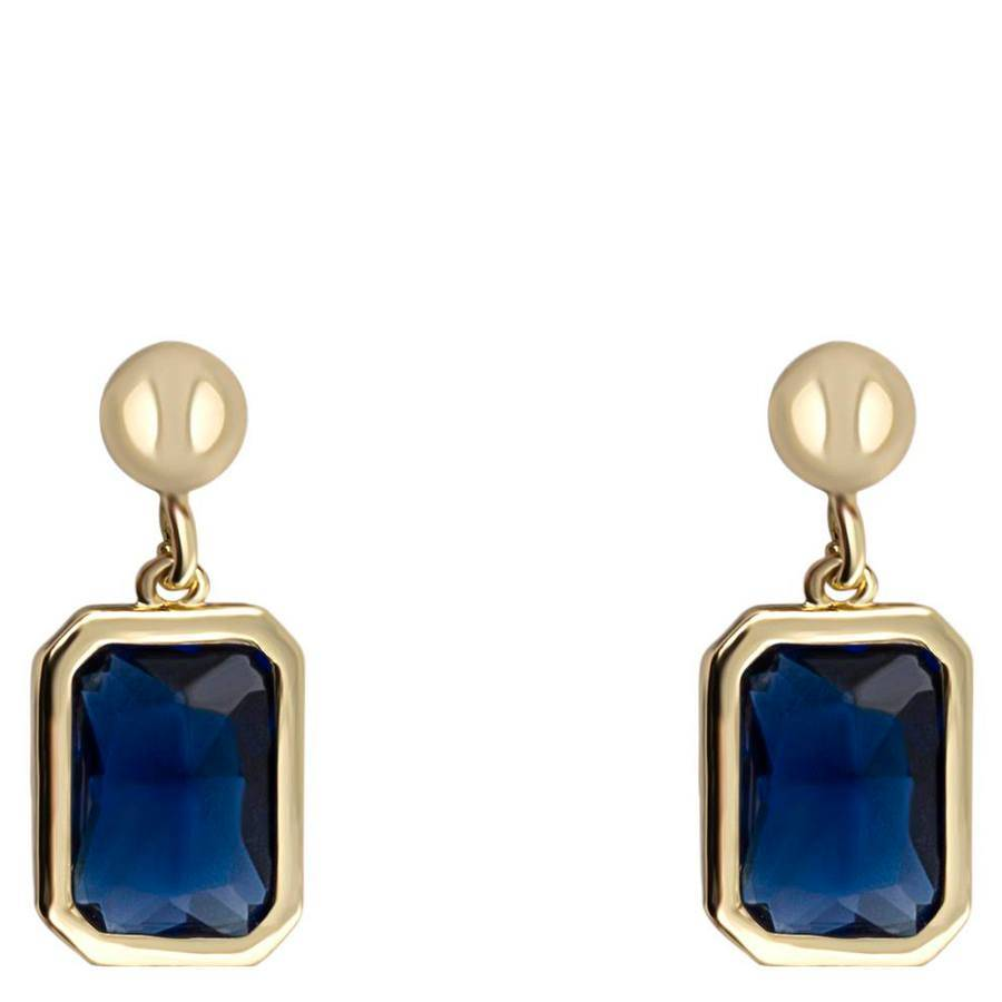 Snö Of Sweden Twice Small Earring 16 mm – Gold/Marine