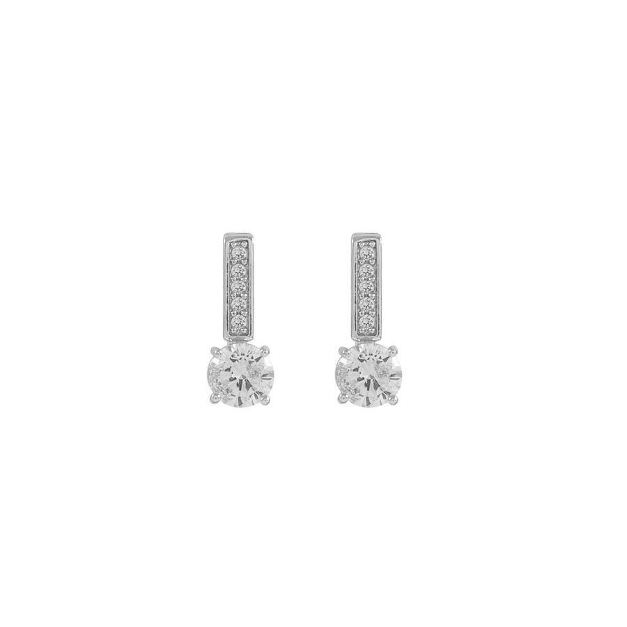 Snö Of Sweden Elaine Small Earring - Silver/Clear
