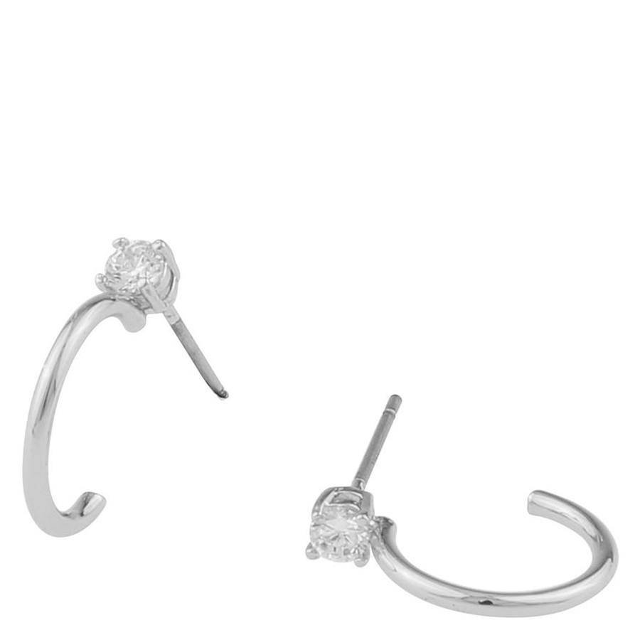 Snö Of Sweden Duo Small Ring Earring ? Silver/Clear