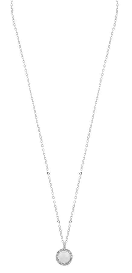 Snö Of Sweden Daria Pearl Pendant Necklace - Silver/White