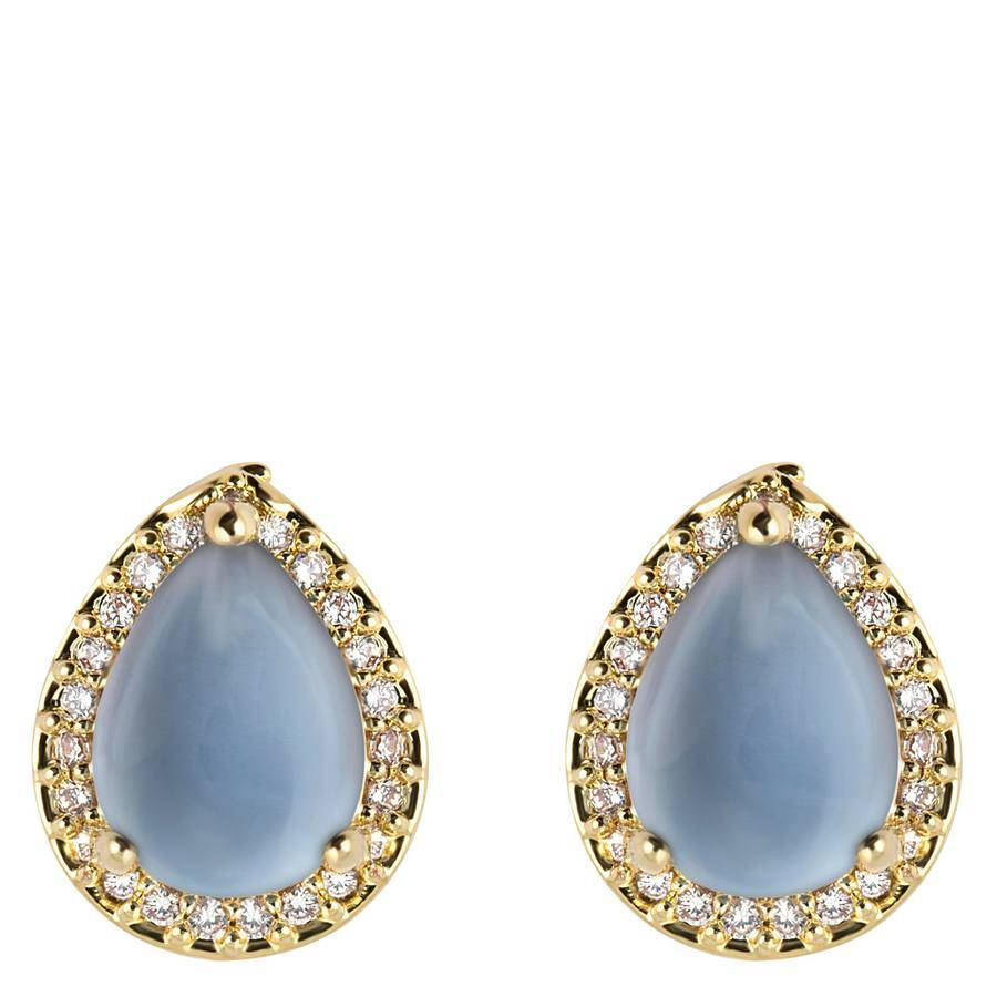 Snö of Sweden Oscar Small Earring 11 mm – Gold/Blue