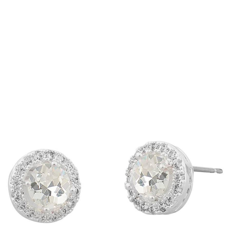 Snö Of Sweden Lissy Small Stone Earring – Silver/Clear