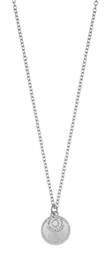 Snö Of Sweden Selma Pendant Necklace 45 cm – Silver/Clear