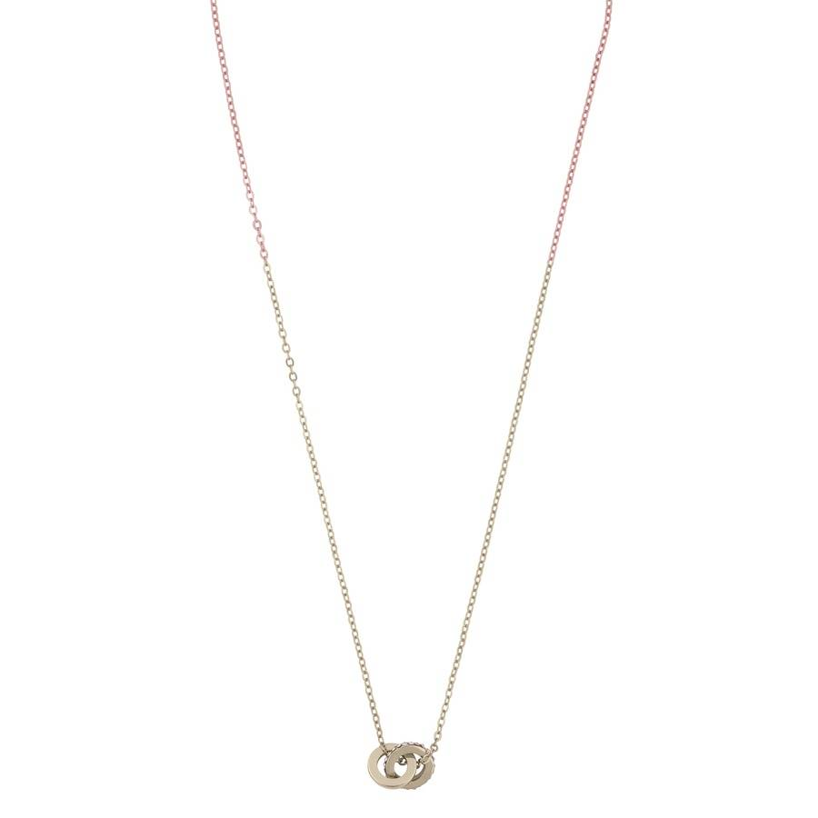 Snö Of Sweden Connected Pendant Necklace 42 cm – Gold/Clear