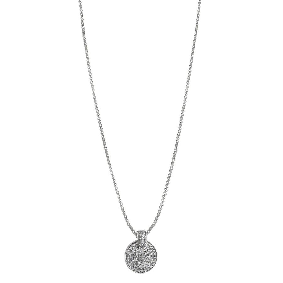 Snö of Sweden Carrie Pendant Necklace – Silver/Clear