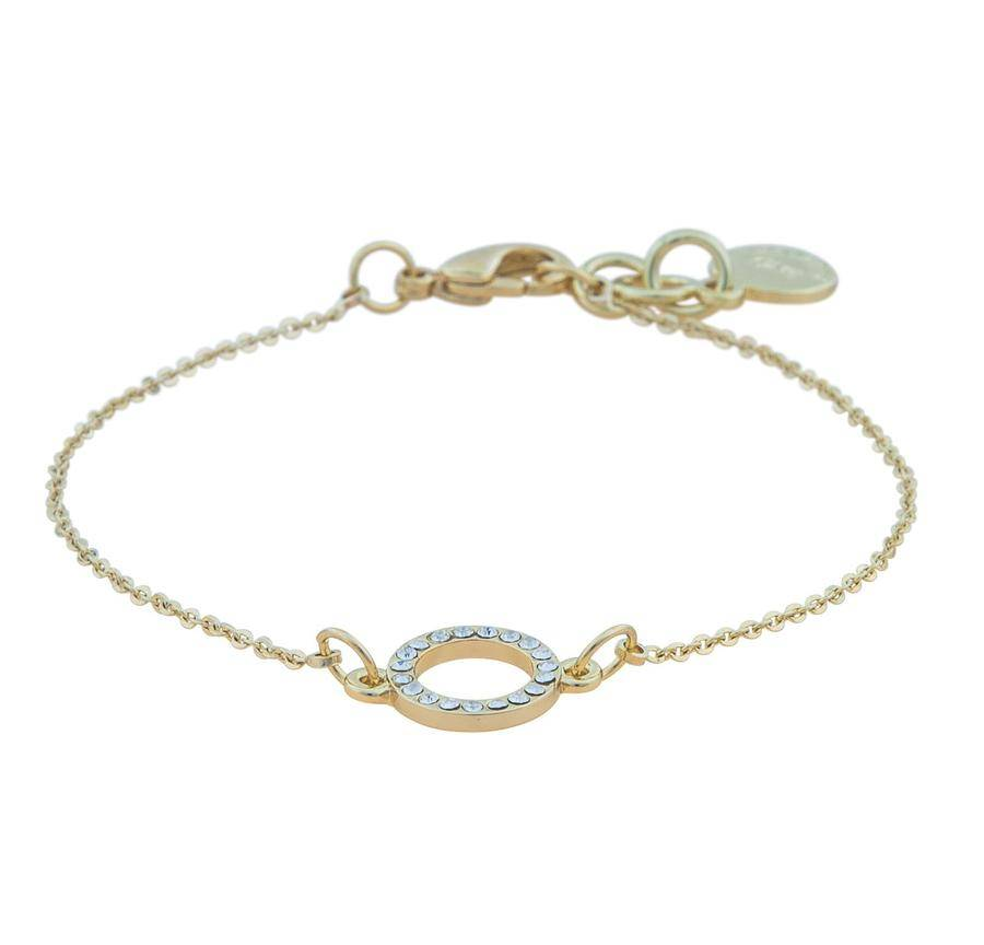 Snö Of Sweden Lily Chain Bracelet - Gold/Clear