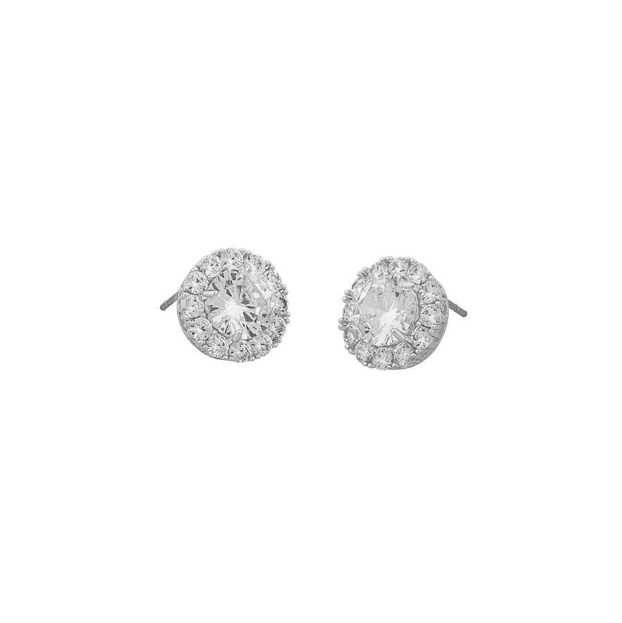 Snö Of Sweden Lex Stone Earring - Silver/Clear