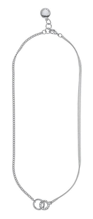 Snö Of Sweden Blizz Chain Necklace Clear 42 cm