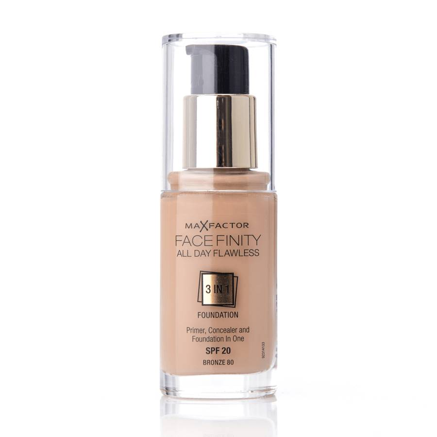 Max Factor Face Finity All Day Flawless 3 in 1 Foundation 80 Bronze 30ml