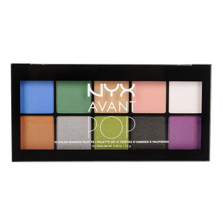 NYX Avant Pop 10 Color Shadow Palette Art Throb 10x1,5g