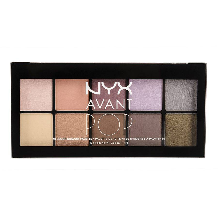 NYX Avant Pop 10 Color Shadow Palette Nouveau Chic 10x1,5g