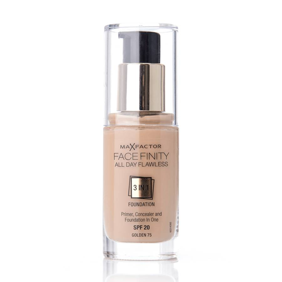 Max Factor Face Finity All Day Flawless 3 in 1 Foundation 75 Golden 30ml