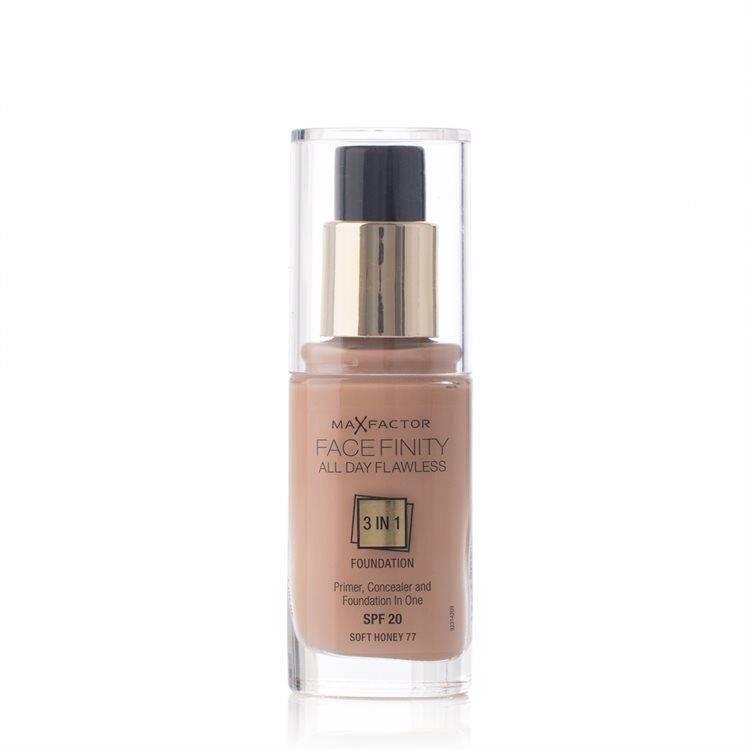 Max Factor Facefinity 3 In 1 Foundation 30 ml – 77 Soft Honey