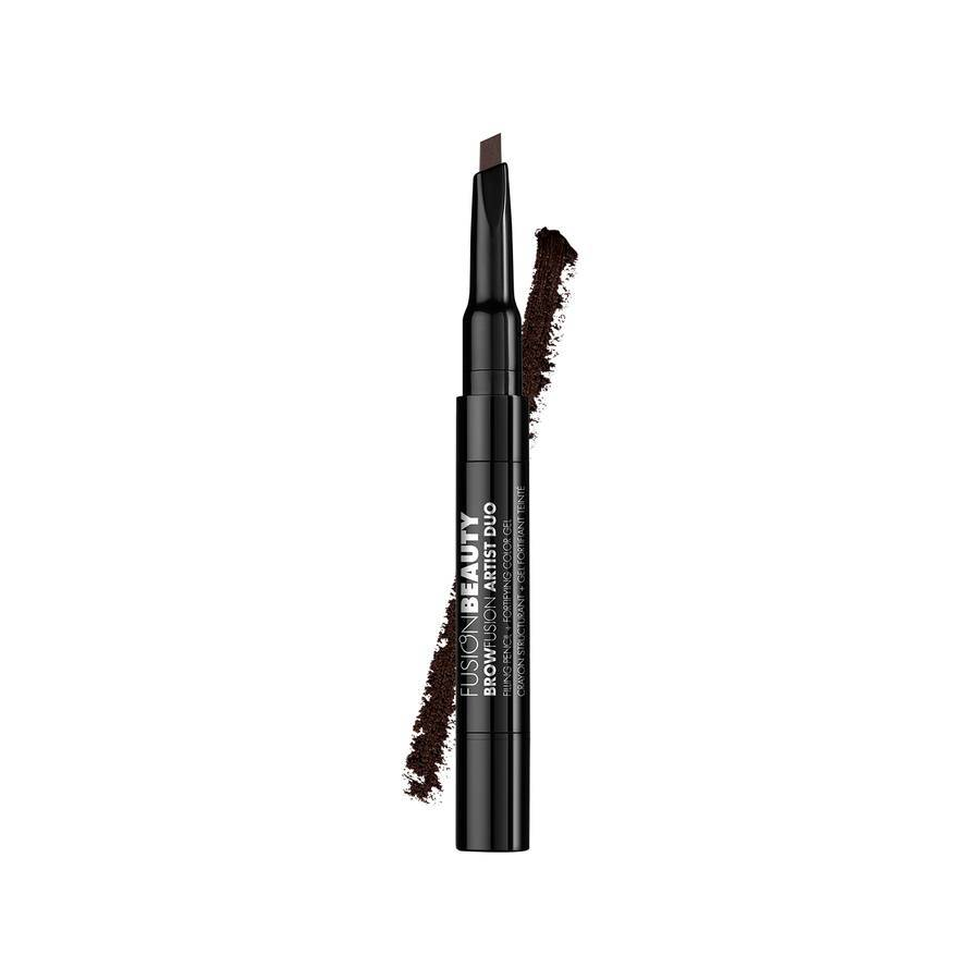 Fusion Beauty BrowFusion Artist Duo Filling Pencil + Color Gel 2,9 g – Dark Brown