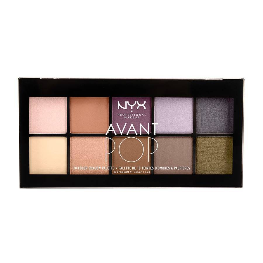 NYX PROFESSIONAL MAKEUP NYX Prof. Makeup Avant Pop 10 Color Shadow Palette Nouveau Chic 10x1,5g