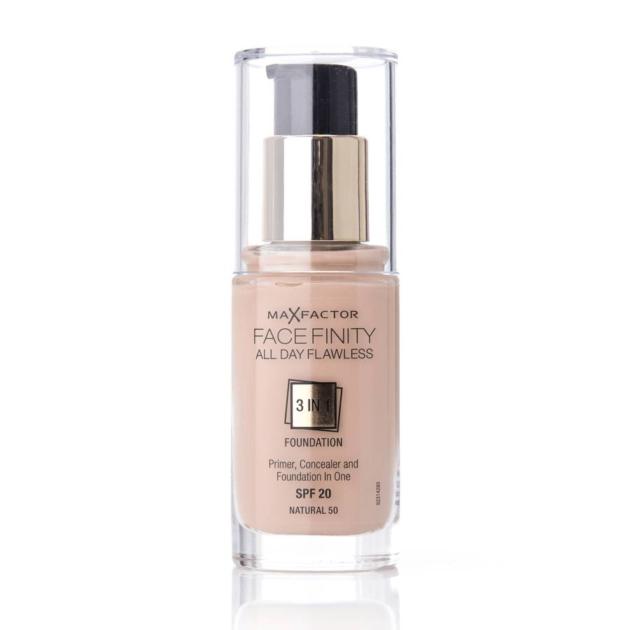 Max Factor Face Finity 3 In 1 Foundation 50 Natural 30ml